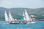 Sirena SL16 Fleet.<br /> Day4, 2015 Youth Sailing World Championships,<br /> Langkawi, Malaysia