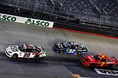 #20: Harrison Burton, Joe Gibbs Racing, Toyota Supra Hunt Brothers Pizza/DEX Imaging and #7: Justin Allgaier, JR Motorsports, Chevrolet Camaro BRANDT