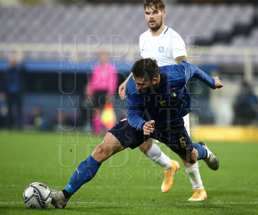 FBL- Friendly  football match Italy vs Estonia at the Artemio Franchi stadium in Florence on November 11, 2020.<br /> Italy's Roberto Gagliardini in action during the friendly football match between Italy snd Estonia at the Artemio Franchi stadium in Florence on November 11, 2020. <br /> UPDATE IMAGES PRESS/Isabella Bonotto