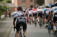 getting the missed feed bags to the teammates in the peloton<br /> <br /> Brussels Cycling Classic 2016