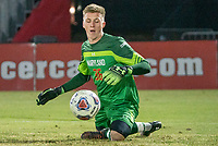 COLLEGE PARK, MD - NOVEMBER 15: Niklas Neumann #36 of Maryland in action during a game between Indiana University and University of Maryland at Ludwig Field on November 15, 2019 in College Park, Maryland.