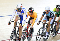 Otago's Jason Allen at the BikeNZ Elite & U19 Track National Championships, Avantidrome, Home of Cycling, Cambridge, New Zealand, Sunday, March 16, 2014. Credit: Dianne Manson