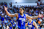 Marcus Ryan Elliott #2 of Eastern Long Lions (L) gestures during the Hong Kong Basketball League 2018 match between SCAA v Eastern Long Lions on August 10, 2018 in Hong Kong, Hong Kong. Photo by Marcio Rodrigo Machado/Power Sport Images