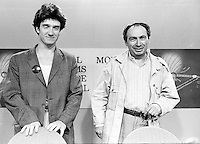 August 25, 1987 File Photo - Montreal (Qc) Canada - French <br /> actor Thierry Fremont (L) and filmmaker Jean-Charles Tacchella (R) at 1987 Montreal  World Film Festival.<br /> <br /> Thierry Frémont (born 12 July 1962) is a French actor. He has appeared in over 65 films and television shows since 1984. He starred in the 1991 film Fortune Express, which was entered into the 41st Berlin International Film Festival.