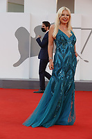 """VENICE, ITALY - SEPTEMBER 10: Monika Bacardi on the red carpet for the movie """"Un Autre Monde"""" during the 78th Venice International Film Festival on September 10, 2021 in Venice, Italy.<br /> CAP/GOL<br /> ©GOL/Capital Pictures"""