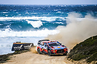 11th October 2020, Alghero, ‎Sardinia, Italy; WRC Rally of Sardinia;  THIERRY NEUVILLE comes home in 2nd place