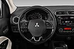 Car pictures of steering wheel view of a 2020 Mitsubishi Mirage-G4 SE 4 Door Sedan Steering Wheel