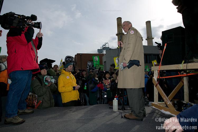 Bill McKibben speaks to the crowd at the Capitol Coal Action in Washington, D.C. - ©Robert vanWaarden ALL RIGHTS RESERVED