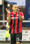 Forfar Athletic v St Johnstone....08.02.14   Scottish Cup 5th Round<br /> Chris Iwelumo applauds<br /> Picture by Graeme Hart.<br /> Copyright Perthshire Picture Agency<br /> Tel: 01738 623350  Mobile: 07990 594431