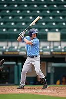 FCL Rays Ben Troike (86) bats during a game against the FCL Pirates Gold on July 26, 2021 at LECOM Park in Bradenton, Florida. (Mike Janes/Four Seam Images)