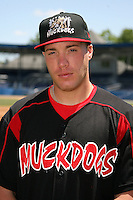 June 16, 2009:  Jack Cawley of the Batavia Muckdogs poses for a head shot before the teams practice at Dwyer Stadium in Batavia, NY.  The Batavia Muckdogs are the NY-Penn League Single-A affiliate of the St. Louis Cardinals.  Photo by:  Mike Janes/Four Seam Images