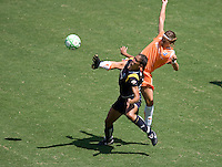 Sky Blue FC midfielder Noelle Keselica and LA Sol's Shannon Boxx battle. The Sky Blue FC defeated the LA Sol 1-0 to win the WPS Final Championship match at Home Depot Center stadium in Carson, California on Saturday, August 22, 2009...