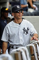 New York Yankees manager Joe Girardi #28 during a game against the Baltimore Orioles at Yankee Stadium on September 5, 2011 in Bronx, NY.  Yankees defeated Orioles 11-10.  Tomasso DeRosa/Four Seam Images