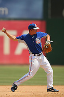 May 14 2009: Garett Green of the Inland Empire 66'ers during game against the Stockton Ports at Arrowhead Credit Union Park in San Bernardino,CA.  Photo by Larry Goren/Four Seam Images
