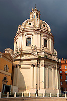 Baroque church nect to Trajan's Market ( Mercati Trajanei) . Rome