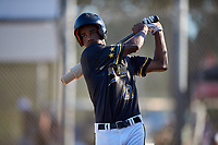 Tyeler Hawkins during the WWBA World Championship at the Roger Dean Complex on October 21, 2018 in Jupiter, Florida.  Tyeler Hawkins is an outfielder from Lexington, Kentucky who attends Bryan Station High School and is committed to Louisville.  (Mike Janes/Four Seam Images)