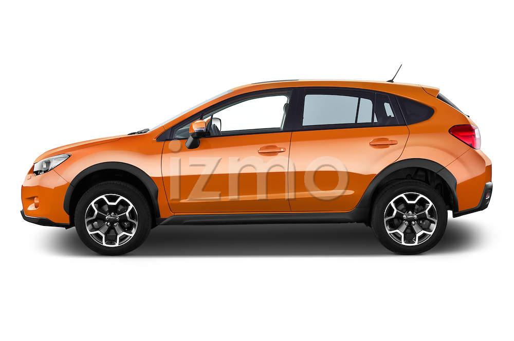 Car Driver side profile view of a 2014 Subaru XV-Crosstrek Premium 5 Door SUV Side View