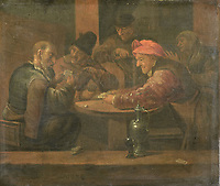 Farmers playing cards - by Daniel Boone, 1650 - 1698