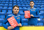 St Johnstone's Jason Kerr and Jamie McCart pictured promoting Show Racism The Red Card<br />Picture by Graeme Hart.<br />Copyright Perthshire Picture Agency<br />Tel: 01738 623350  Mobile: 07990 594431