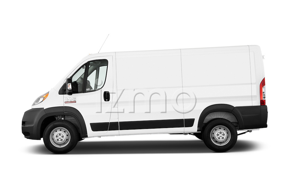 Car Driver side profile view of a 2015 Ram Promaster 1500 136 Wb Low Roof 4 Door Passenger Van 2WD Side View