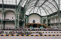 the peloton riding through the historic Le Grand Palais upon arriving in Paris<br /> <br /> 104th Tour de France 2017<br /> Stage 21 - Montgeron › Paris (105km)
