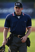 July 3rd 2008:  Home plate umpire Shaylor Smith during game at Dwyer Stadium in Batavia, NY.  Photo by:  Mike Janes/Four Seam Images