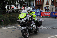 "One of the many emergency motorcycles during the Abergavenny Festival of Cycling ""Grand Prix of Wales"" race on Sunday 17th 2016<br /> <br /> <br /> Jeff Thomas Photography -  www.jaypics.photoshelter.com - <br /> e-mail swansea1001@hotmail.co.uk -<br /> Mob: 07837 386244 -"