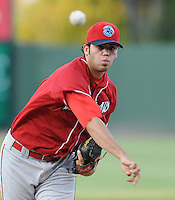 Starting RHP Julio Rodriguez (17) of the Lakewood BlueClaws in Game 2 of the South Atlantic League Championship Series against the Greenville Drive on Sept. 14, 2010, at Fluor Field at the West End in Greenville, S.C. Photo by: Tom Priddy/Four Seam Images