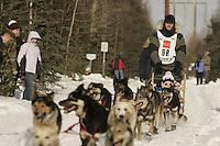 March 3, 2007.  Anchorage, Alaska. Herman Maqueira  On the ceremonial start day of the Iditarod Trail Sled Dog Race
