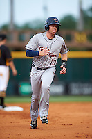 Lakeland Flying Tigers right fielder Mike Gerber (13) running the bases during a game against the Bradenton Marauders on April 16, 2016 at McKechnie Field in Bradenton, Florida.  Lakeland defeated Bradenton 7-4.  (Mike Janes/Four Seam Images)