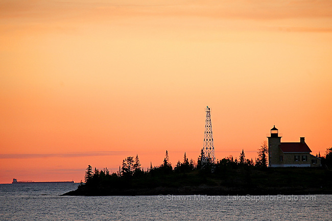 Copper Harbor Lighthouse and Freighter lighthouses in the Upper Peninsula of Michigan