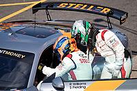 Richard Williams & Sennan Fielding, Audi R8 LMS GT4, Stellar Motorsport change over in qualifying during the British GT & F3 Championship on 10th July 2021