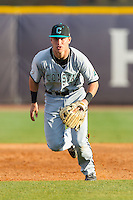 Coastal Carolina Chanticleers third baseman Zach Remillard (7) charges towards home plate against the High Point Panthers at Willard Stadium on March 14, 2014 in High Point, North Carolina.  The Panthers defeated the Chanticleers 3-0.  (Brian Westerholt/Four Seam Images)
