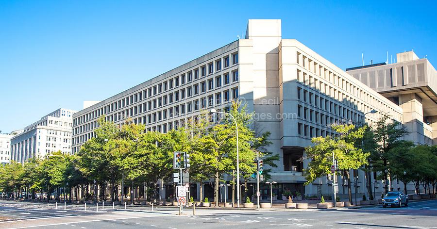 Federal Bureau of Investigation, FBI, FBI Headquarters, J. Edgar Hoover Building, Washington DC, USA.