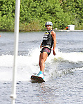 September 13, 2014:  Scenes from the WWA Wakeboard World Championships at Mills Pond Park in Fort Lauderdale, FL.  Women's  Professional Wakeboarder, Bec Gange AUS wins the event.  Liz Lamont/ESW/CSM