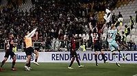 Calcio, Serie A: Juventus - Genoa, Turin, Allianz Stadium, October 20, 2018.<br /> Genoa's players greets Genoa's fans at the end of the Italian Serie A football match between Juventus and Genoa at Torino's Allianz stadium, October 20, 2018.<br /> The match result is 1-1<br /> UPDATE IMAGES PRESS/Isabella Bonotto
