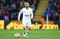 Leon Britton of Swansea City during the Barclays Premier League match between Leicester City and Swansea City played at The King Power Stadium, Leicester on 24th April 2016
