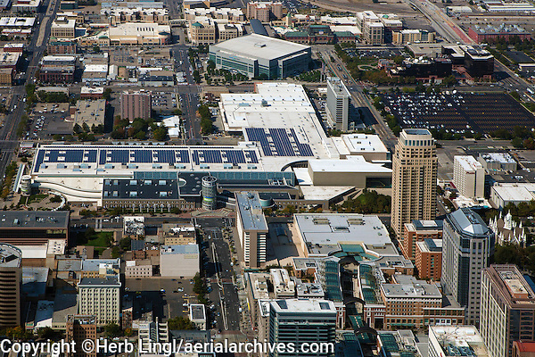 aerial photograph Calvin L. Rampton Salt Palace Convention Center, Salt Lake City, Utah