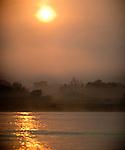 Sunrise on the Cuiaba River, Northern Pantanal, Brazil.