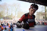 Philippe Gilbert (BEL/BMC) signing in<br /> <br /> 71st Omloop Het Nieuwsblad 2016