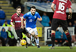 St Johnstone v St Mirren….27.03.19   McDiarmid Park   SPFL<br />Tony Watt gets between Mateo Muzek and Mihai Popescu<br />Picture by Graeme Hart. <br />Copyright Perthshire Picture Agency<br />Tel: 01738 623350  Mobile: 07990 594431