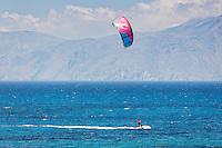Kitesurfing in Agrillaopotamos of Karpathos, Greece