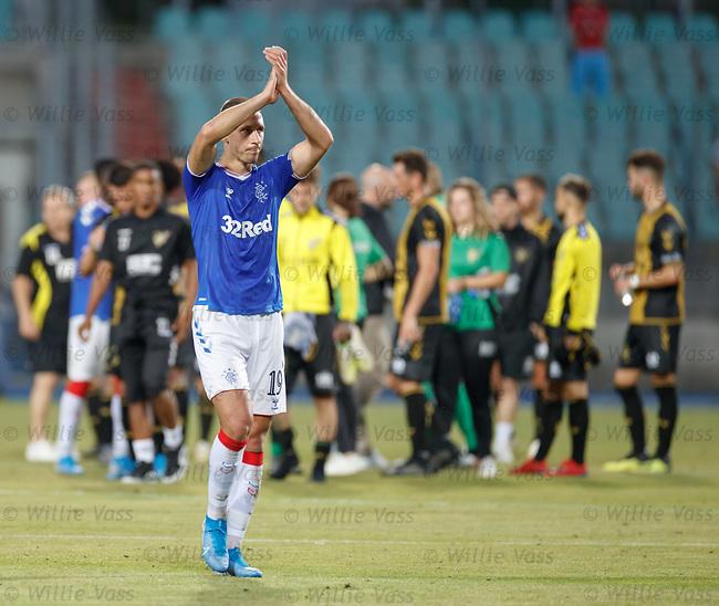 01.08.2019 Progres Niederkorn v Rangers: Nikola Katic