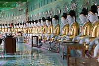 Myanmar, Burma.   Umin Thounzeh, Buddhist Shrine on Sagaing Hill, near Mandalay.