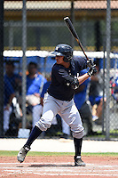 GCL Yankees 2 catcher Rainiero Coa (76) at bat during a game against the GCL Blue Jays on July 2, 2014 at the Bobby Mattick Complex in Dunedin, Florida.  GCL Yankees 2 defeated GCL Blue Jays 9-6.  (Mike Janes/Four Seam Images)