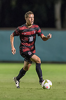STANFORD, CA - August 19, 2014: Alex Ainscough during the Stanford vs CSU Bakersfield men's exhibition soccer match in Stanford, California.  Stanford won 1-0.