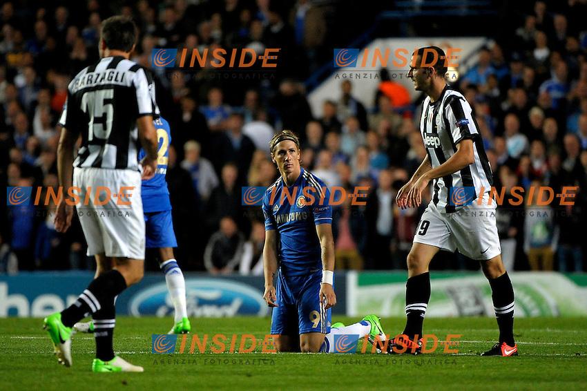 Fernando Torres Chelsea.Londra 19/9/2012 Stadio Stamford Bridge.Football Calcio Champions League 2012/2013.Chelsea Vs Juventus.Foto Federico Tardito Insidefoto.