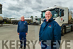 Ted Herlihy and Laurence Cotter who drive bulk tank collection trucks for Lee Strand