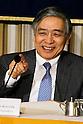Haruhiko Kuroda speaks at the FCCJ