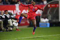 CARSON, CA - FEBRUARY 7: Crystal Dunn #19 of the United States during a game between Mexico and USWNT at Dignity Health Sports Park on February 7, 2020 in Carson, California.